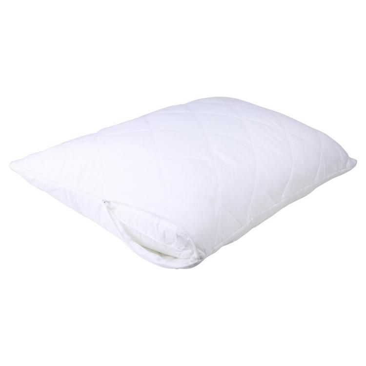 Brampton House Anti Bacterial Quilted Pillow Protector White Standard