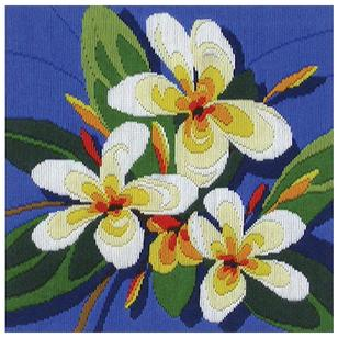 Country Threads Frangipanis Long Stitch Kit