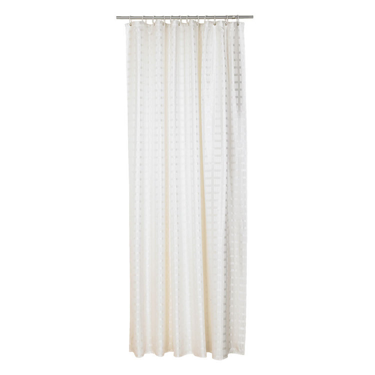 Hyde Park Jacquard Box Stripe Shower Curtain