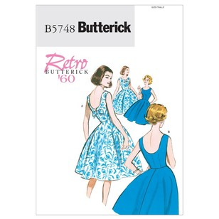 Butterick Pattern 5748 Misses' & Misses' Petite Flared Dresses