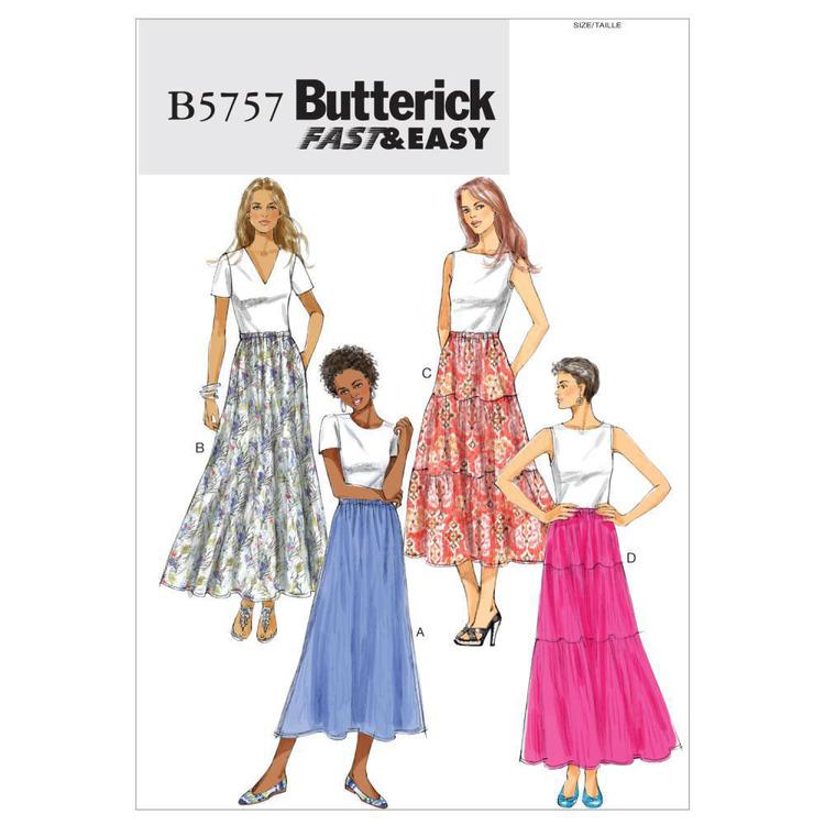 Butterick Pattern B5757 Misses' Skirt