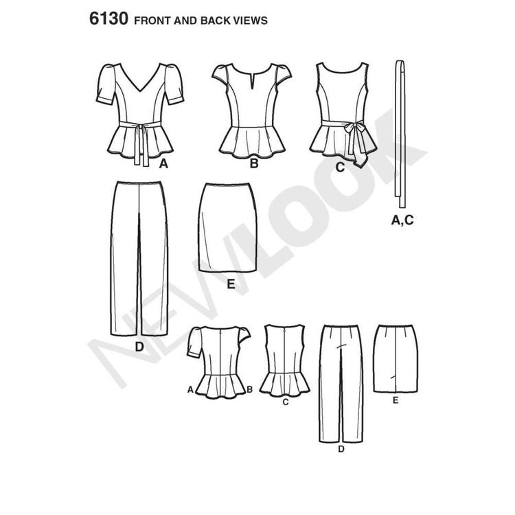 New Look Pattern 6130 Women's Coordinates  8 - 18