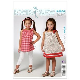 Kwik Sew Pattern K3934 Toddlers' Dress & Tunic