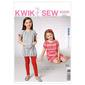 Kwik Sew K3935 Girls' Dresses & Leggings  XX Small - Large
