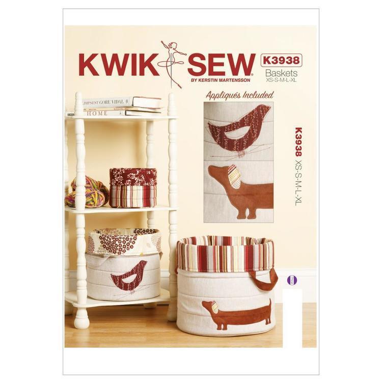 Kwik Sew Pattern K3938 Noras' Nesting Baskets