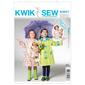 Kwik Sew K3941 Childrens' & Doll Raincoats  XX Small - Large