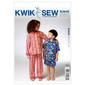 Kwik Sew K3945 Childrens' Pajamas  X Small - X Large
