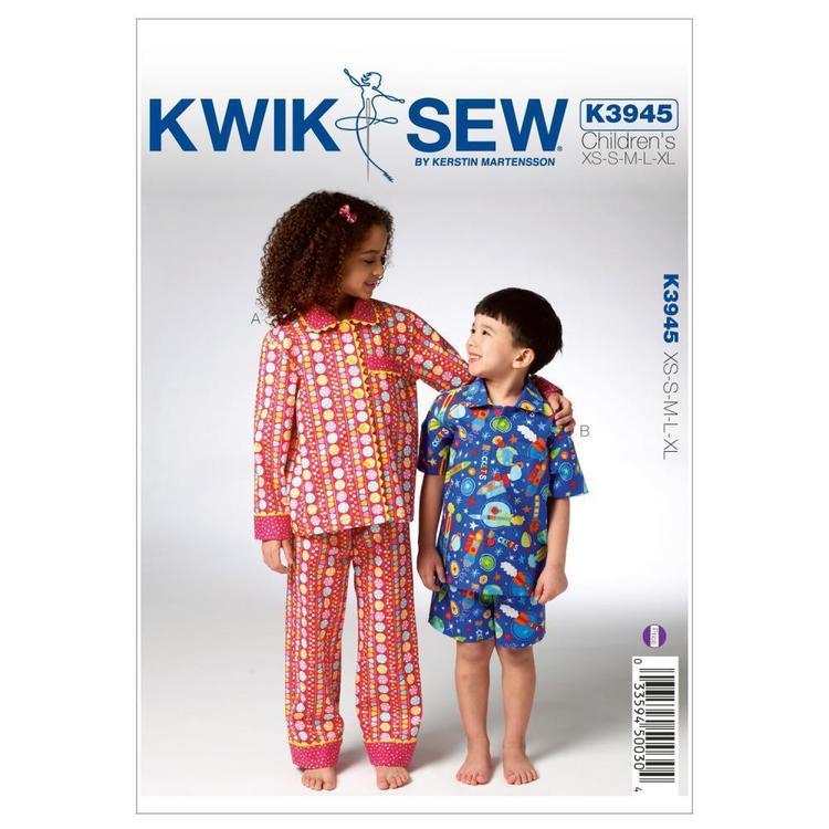 Kwik Sew Pattern K3945 Childrens' Pajamas