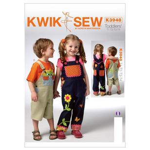 Kwik Sew Pattern K3948 Toddlers' Overalls