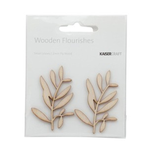 Kaisercraft Wooden Flourishes Small Leaves