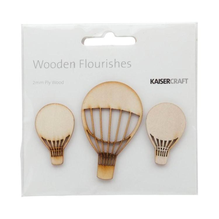 Kaisercraft Wooden Flourishes Hot Air Balloons