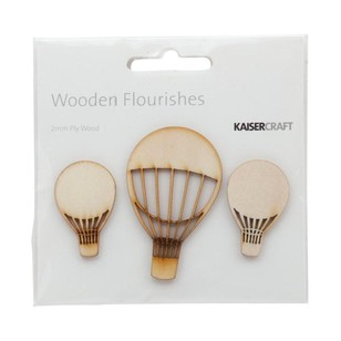Kaisercraft Wooden Flourishes Hot Air Balloons