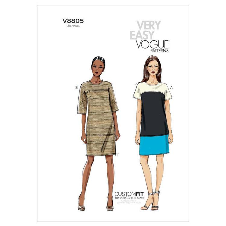 Vogue Pattern V8805 Misses' Dress