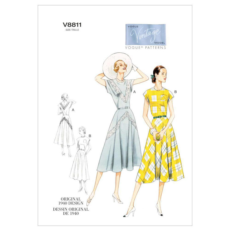 Vogue V8811 Misses' Dress & Belt