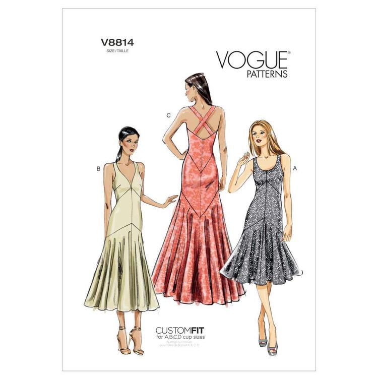 Vogue Pattern V8814 Misses' Dress