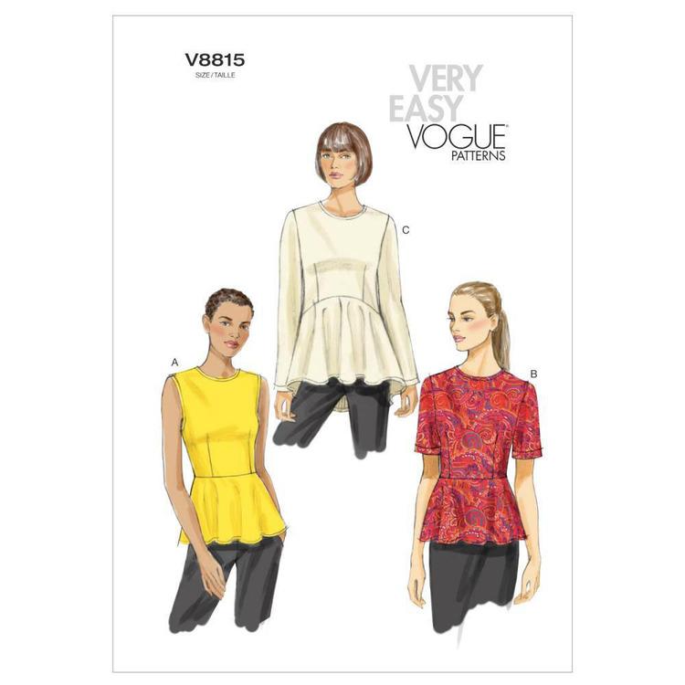 Vogue Pattern V8815 Misses' Top