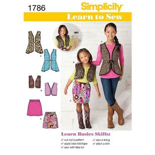 Simplicity Pattern 1786 Girl's Coordinates