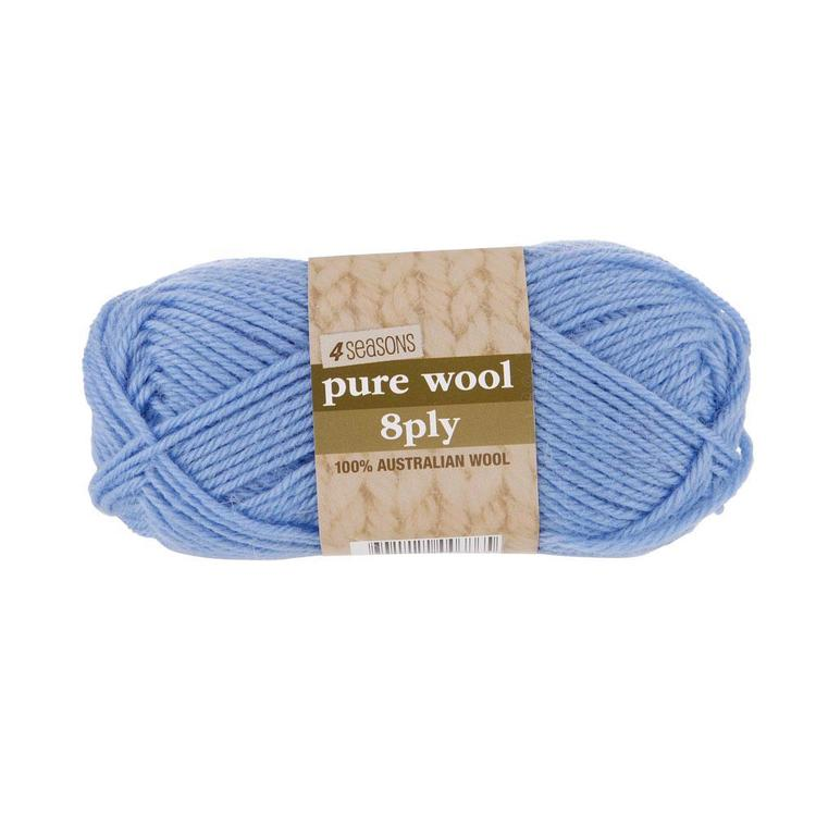4 Seasons Pure Wool 8 Ply Yarn 50 G Baby Blue
