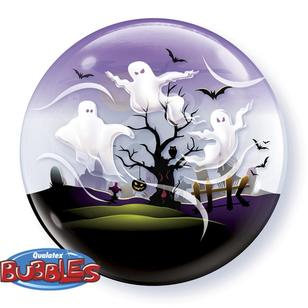 Qualatex Bubbles Spooky Ghosts Balloon