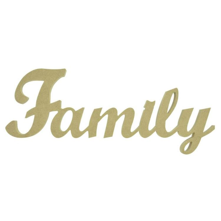 Kaisercraft Family Script Word