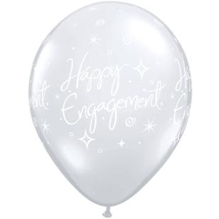 Qualatex Engagement Sparkles Latex Balloon