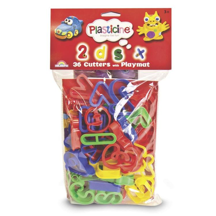 Plasticine Cutters Letters & Numbers