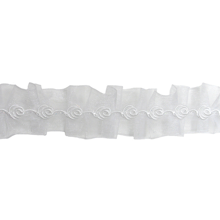 Simplicity Shimmer Ribbon White 22 mm
