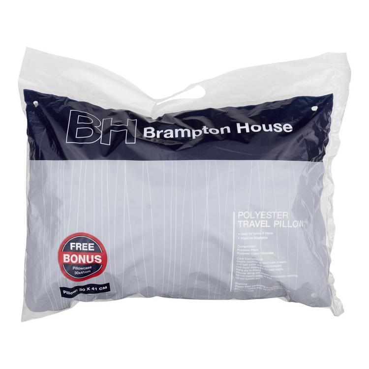 Brampton House Travel Pillow White Travel