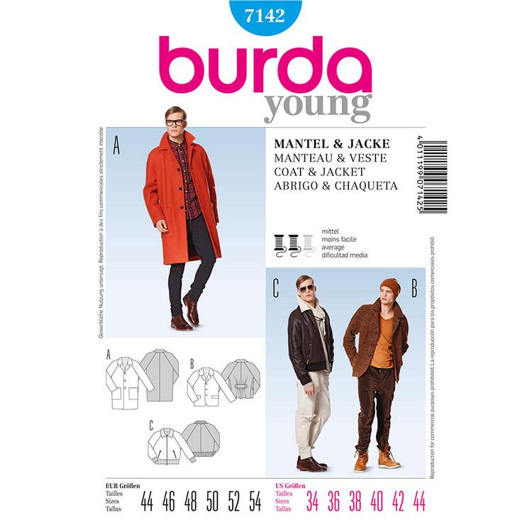 Burda Pattern 7142 Men's Jacket