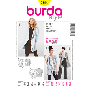 Burda Pattern 7184 Women's Jacket