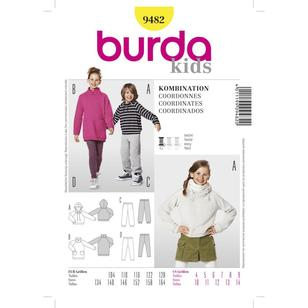 Burda Pattern 9482 Kid's Coordinates
