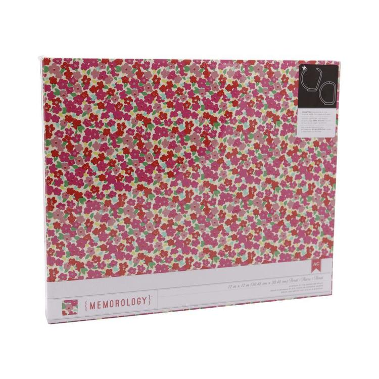 American Crafts On Trend D-Ring Album Red 12 x 12 in