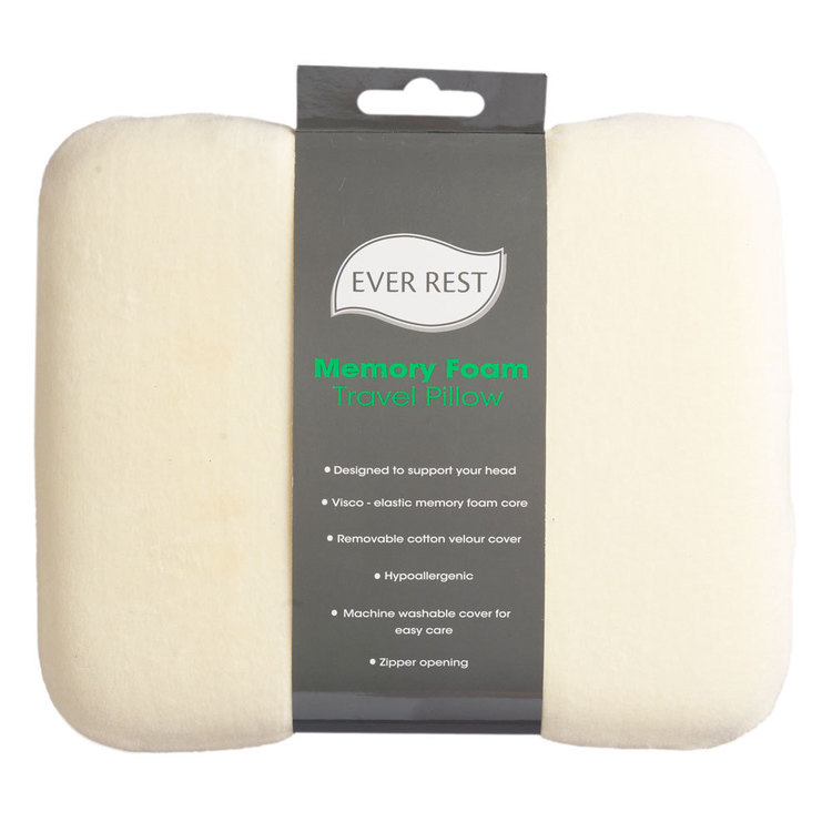 Ever Rest Memory Foam Travel Pillow Natural Travel
