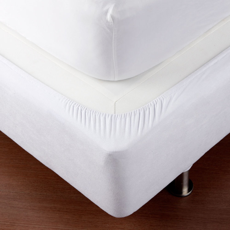 Koo Fitted Bed Base Wrap White Double