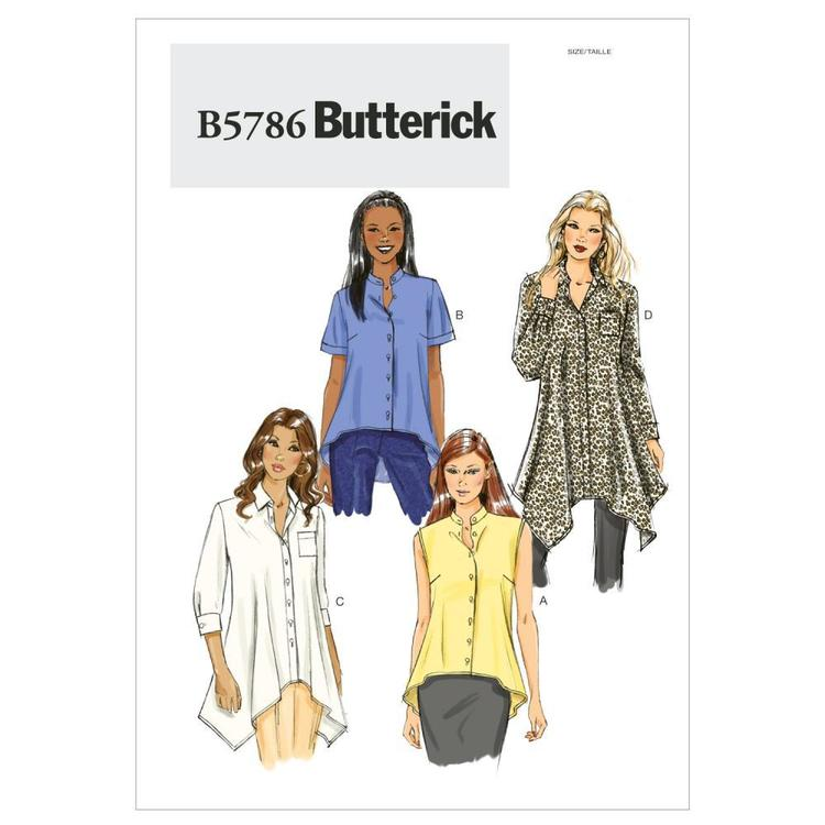 Butterick Pattern B5786 Misses' Shirt