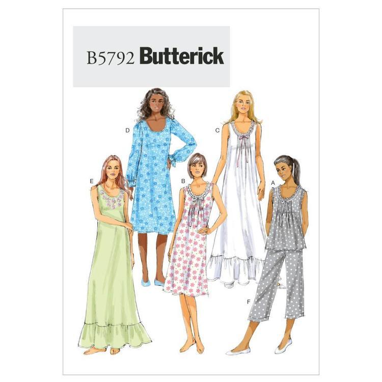 Butterick Pattern B5792 Misses' Top Gown & Pants