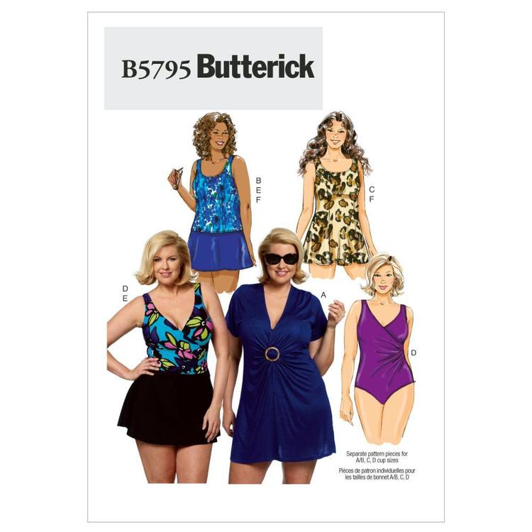 Butterick Pattern B5795 Women's Cover-Up Top Swim dress Swimsuit Skirt & Briefs