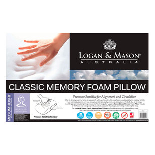 Logan & Mason Classic Memory Foam Pillow