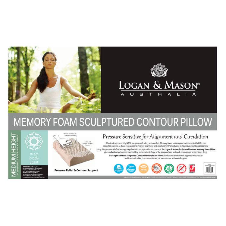 Logan & Mason Memory Foam Contour Pillow