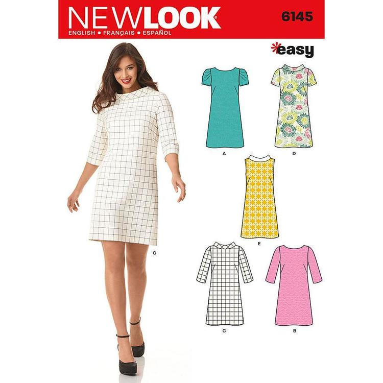 New Look 6145 Women's Dress  8 - 18
