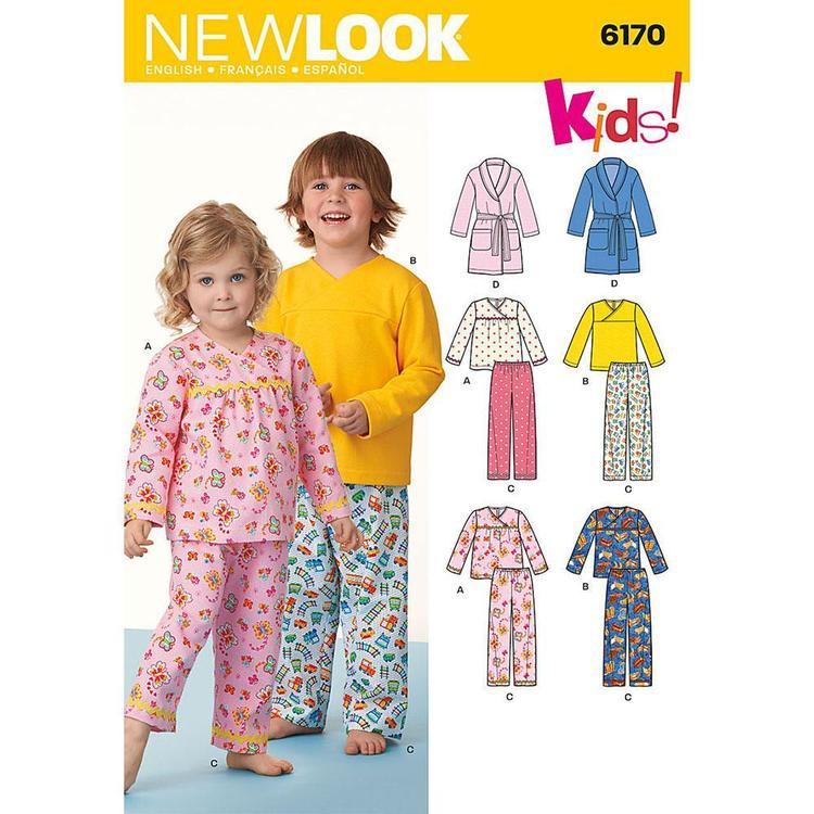New Look Pattern 6170 Kid's Sleepwear