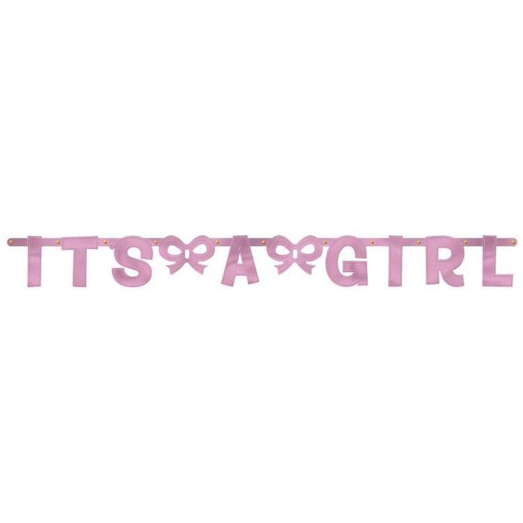 Amscan Large Letter Baby Girl Banner