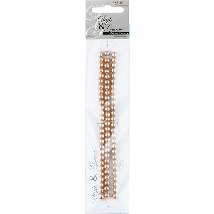 Ribtex Style & Grace Glass Pearls 81 Pack