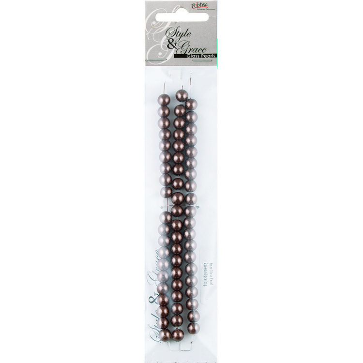 Ribtex Style & Grace Glass Pearls 60 Pack