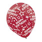 Amscan Birthday Latex Balloons Red