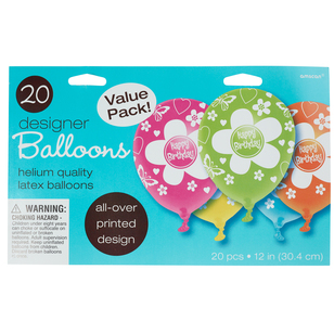Amscan Pearl Birthday Latex Balloons