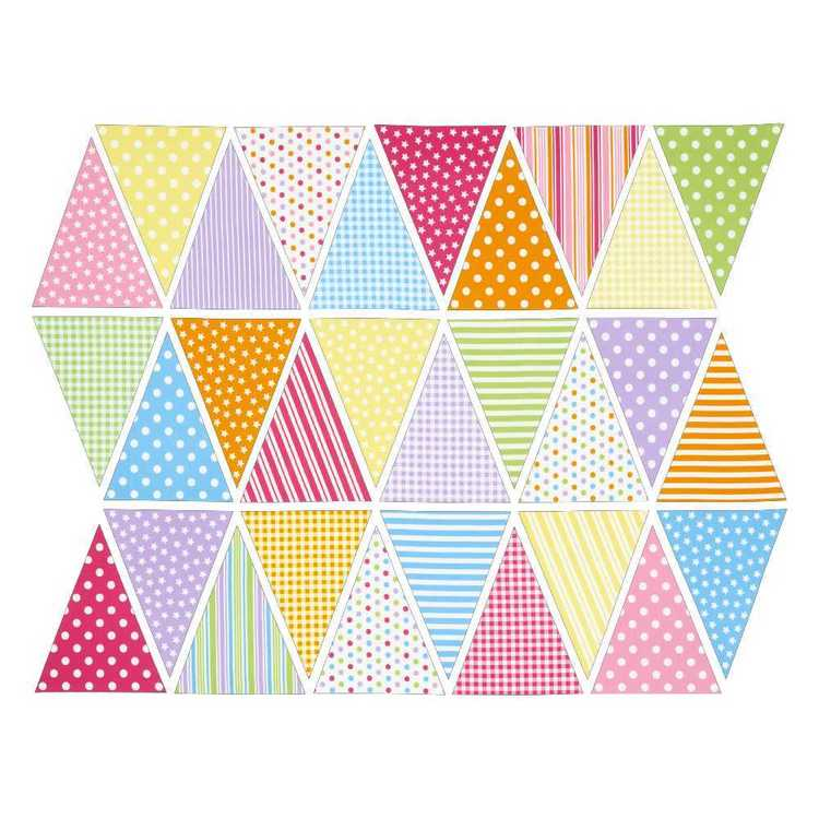 Sugar & Spice Spots And Stripes Bunting Multicoloured 90 x 112 cm