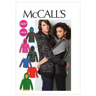 McCall's Pattern M6614 Teens' Tops & Jacket