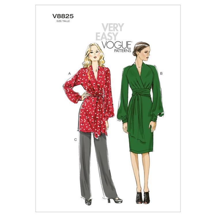 Vogue Pattern V8825 Misses' Tunic Dress & Pants