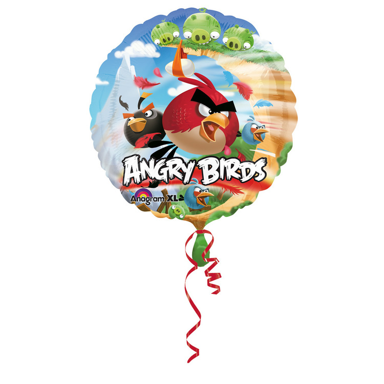 Amscan Foil Angry Birds Balloon Multicoloured X Large